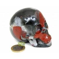 thumb-Bloedsteen (Heliotroop) schedel 320-1