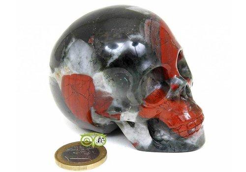 Bloedsteen (Heliotroop) schedel KS-BL-HE-191-320
