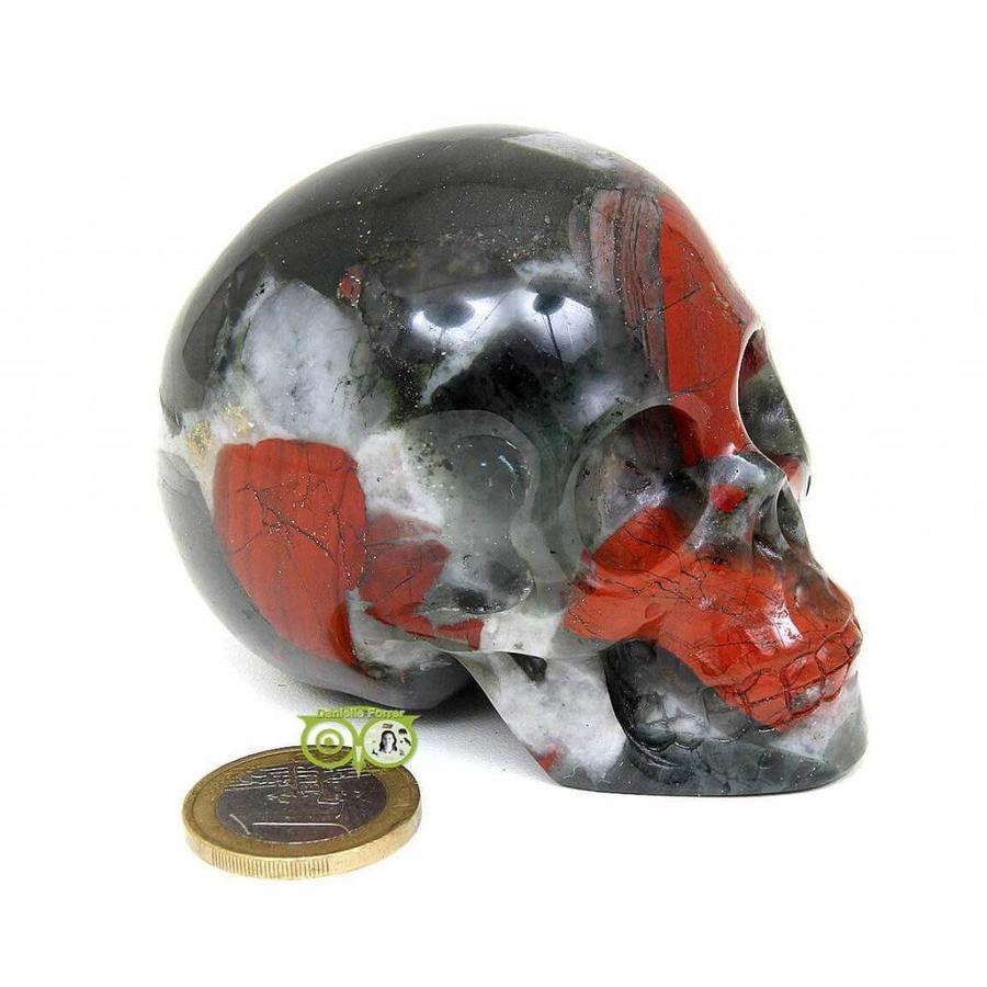 Bloedsteen (Heliotroop) schedel 320-1