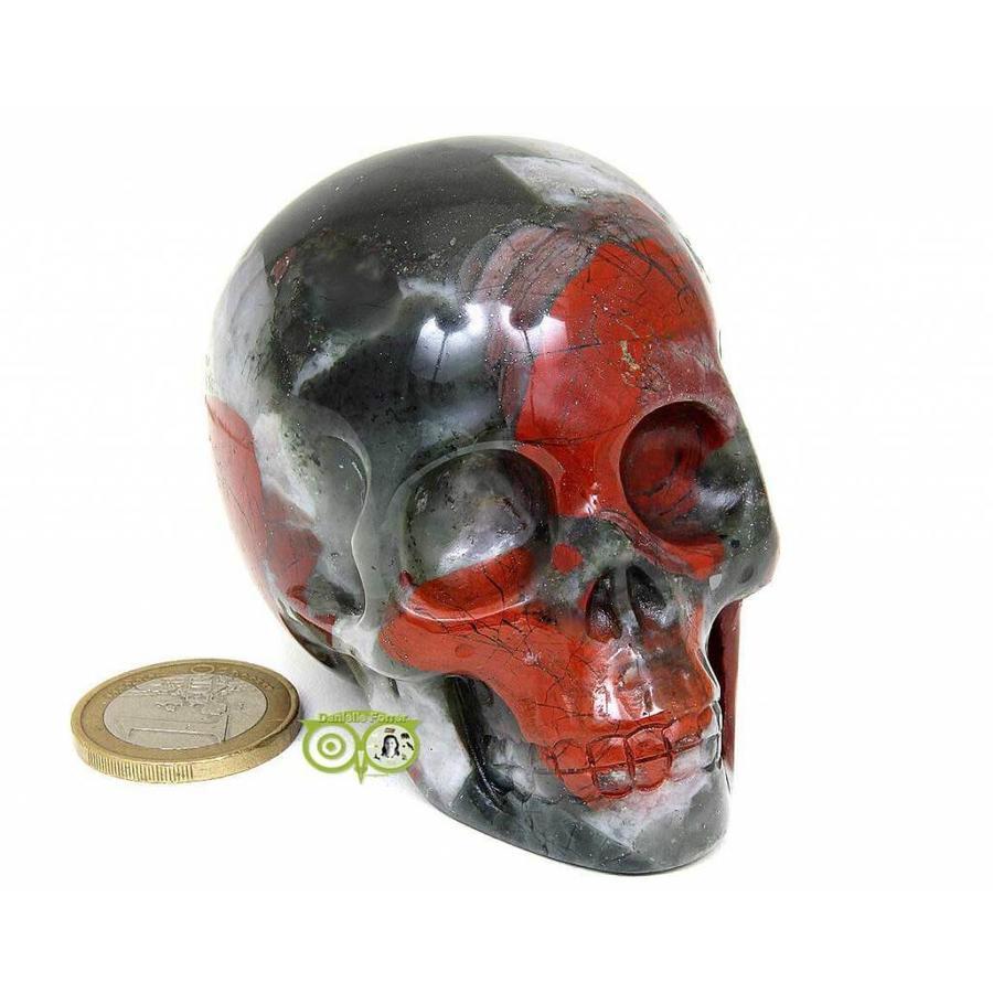 Bloedsteen (Heliotroop) schedel 320-2