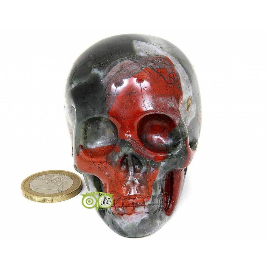 Bloedsteen (Heliotroop) schedel 320-3