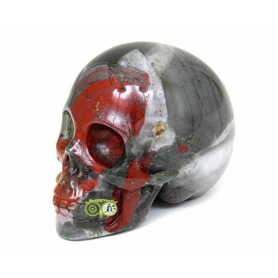 Bloedsteen (Heliotroop) schedel 320-4
