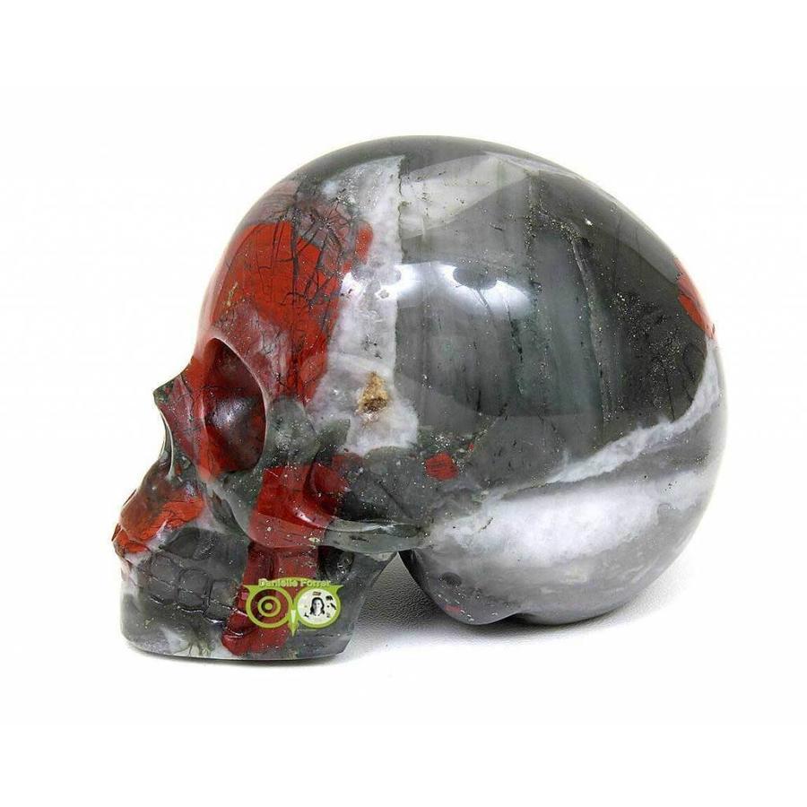 Bloedsteen (Heliotroop) schedel 320-5