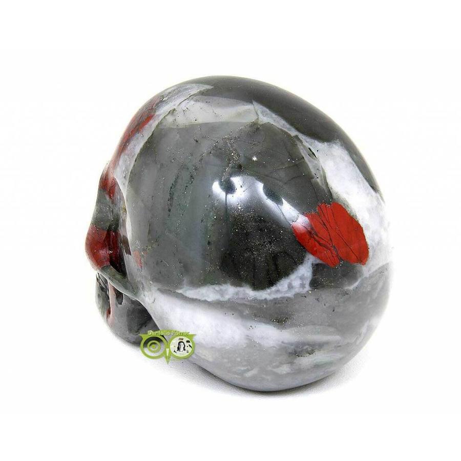 Bloedsteen (Heliotroop) schedel 320-6