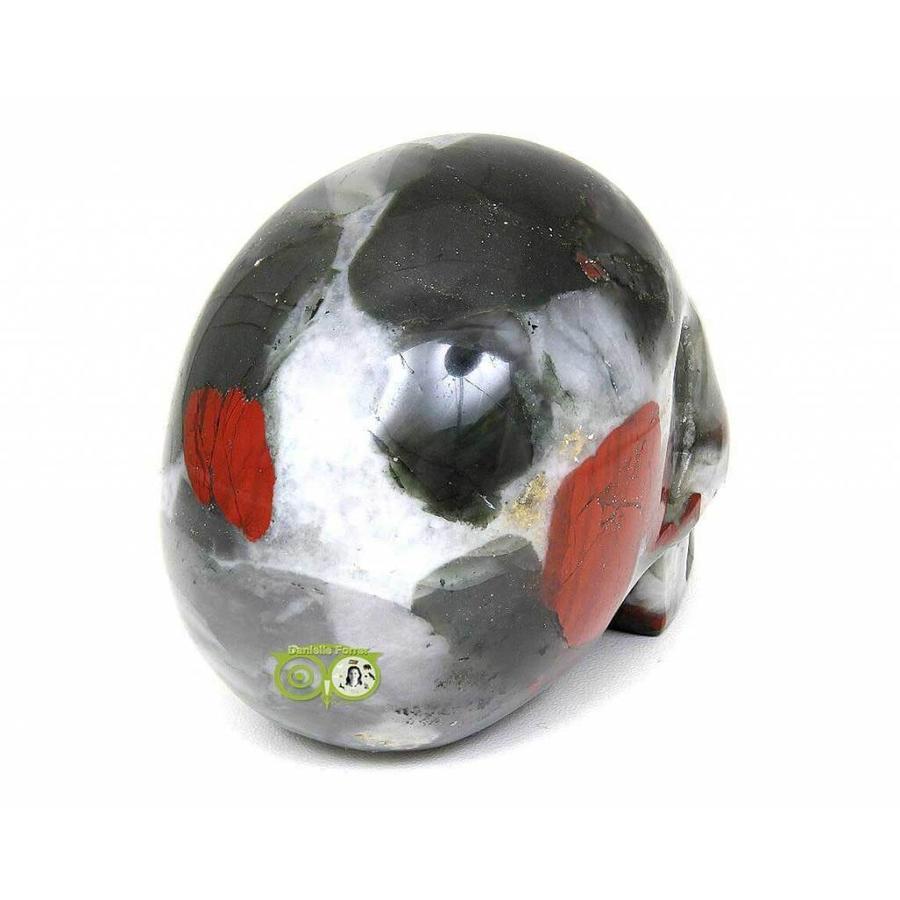 Bloedsteen (Heliotroop) schedel 320-7
