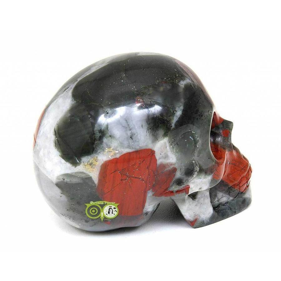 Bloedsteen (Heliotroop) schedel 320-8