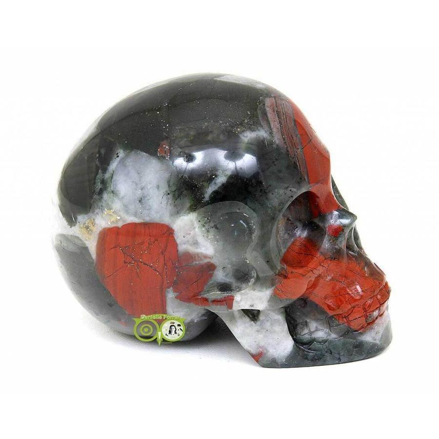 Bloedsteen (Heliotroop) schedel 320-9