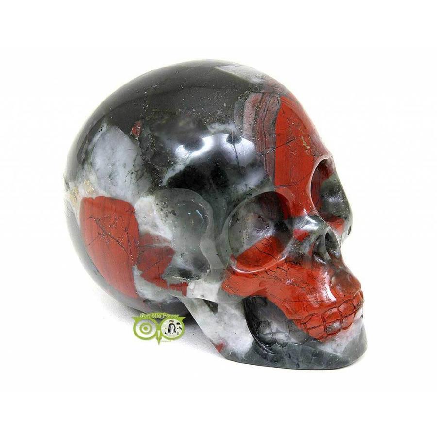Bloedsteen (Heliotroop) schedel 320-10