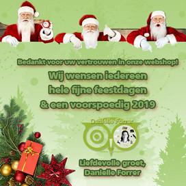 Bedankt voor het vertrouwen & kerstwens
