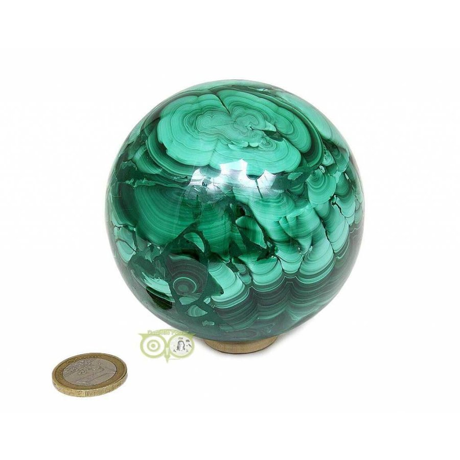 Malachiet mineralen bol 1032 gram-4