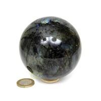 thumb-Labradoriet edelstenen bol 720 gram - 8 cm-1