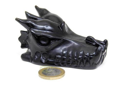 Obsidiaan draken schedel 148 gram