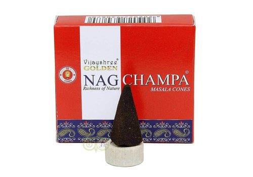Wierookkegels Golden Nag Champa masala - Vijayshree®