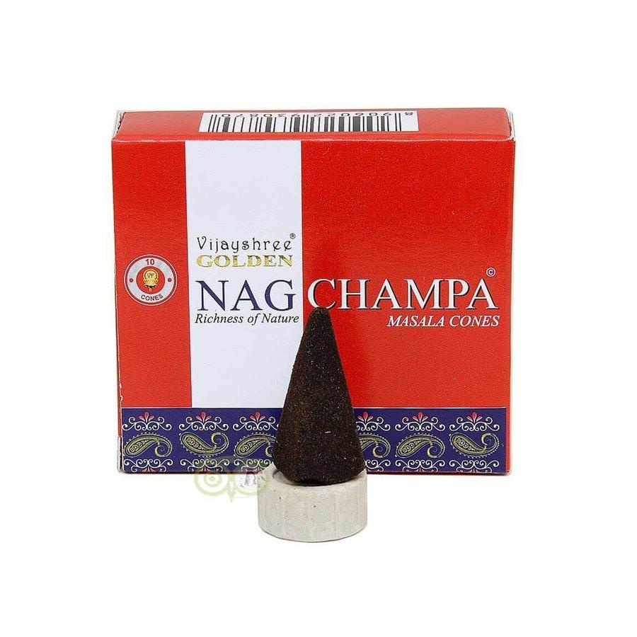 Wierookkegels Golden Nag Champa masala - Vijayshree®-1