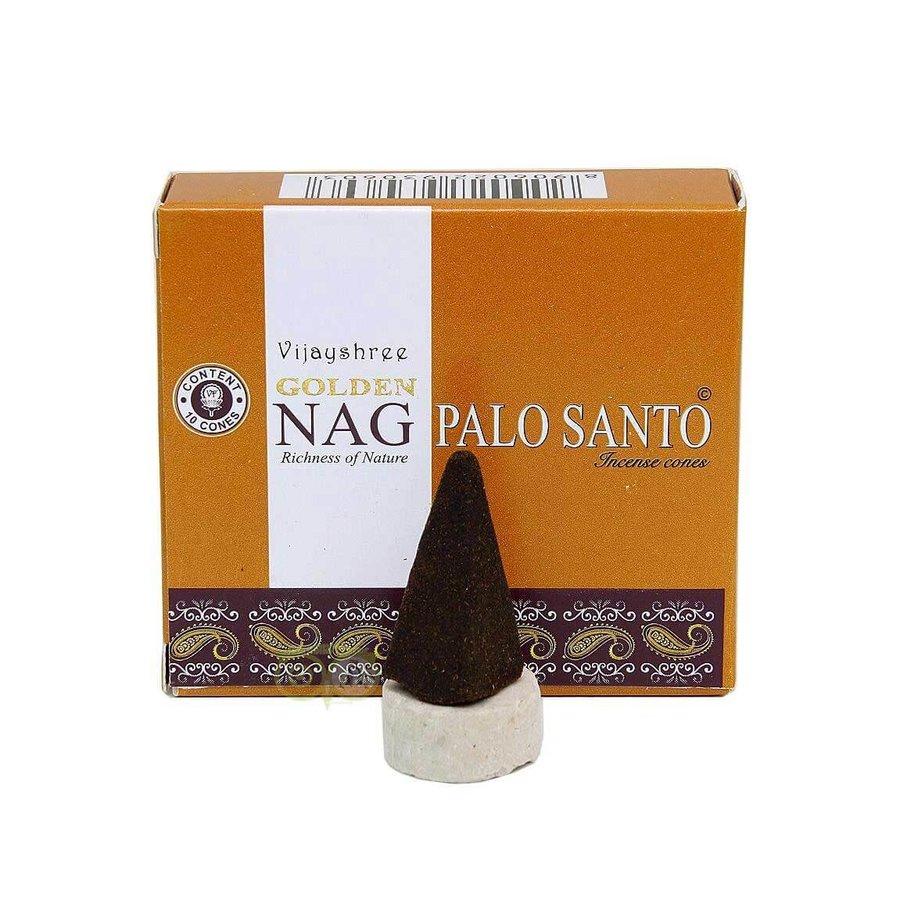 Wierookkegels Golden Nag Palo Santo - Vijayshree®-1