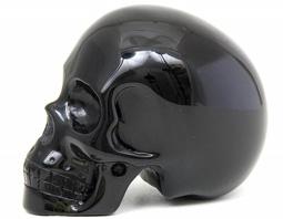 Zwarte Obsidiaan kristallen schedel kopen | Edelstenen webwinkel - Webshop Danielle Forrer