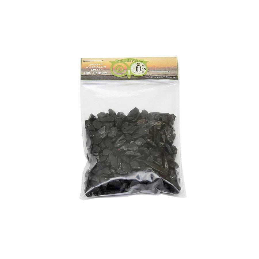Zwarte Toermalijn - Split -  50 gram - edelstenen voordeel-1