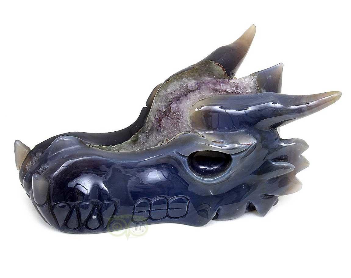 Agaar Drakenschedel | Agaat geode draken schedel | Edelstenen webwinkel - Webshop Danielle Forrer