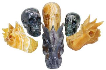 Nieuwe collectie Kristallen schedels & Drakenschedels | Edelstenen webshop - Webshop Danielle Forrer