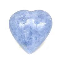 thumb-Blauwe Calciet hart Nr 27 - 363 gram-1