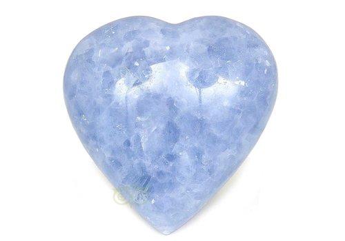 Blauwe Calciet hart  363 gram
