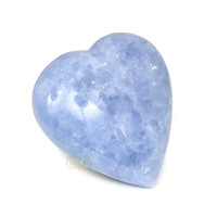 thumb-Blauwe Calciet hart Nr 27 - 363 gram-2