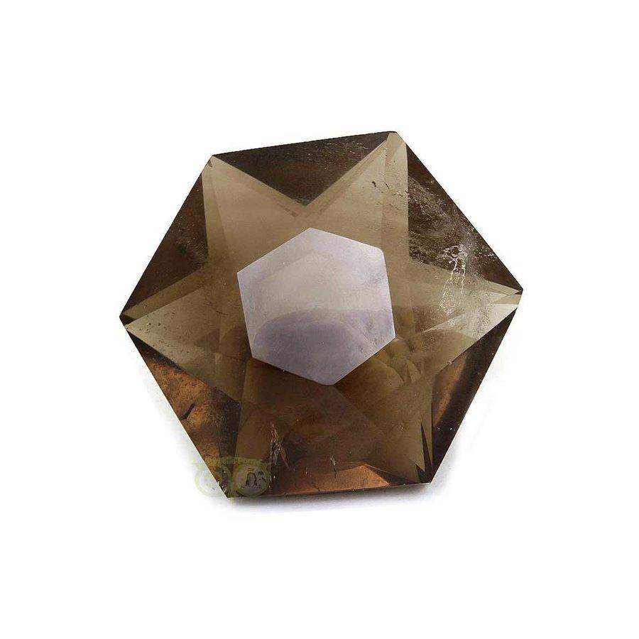 Rookkwarts Ster - Hexagon  Nr 6 - 132  gram-2