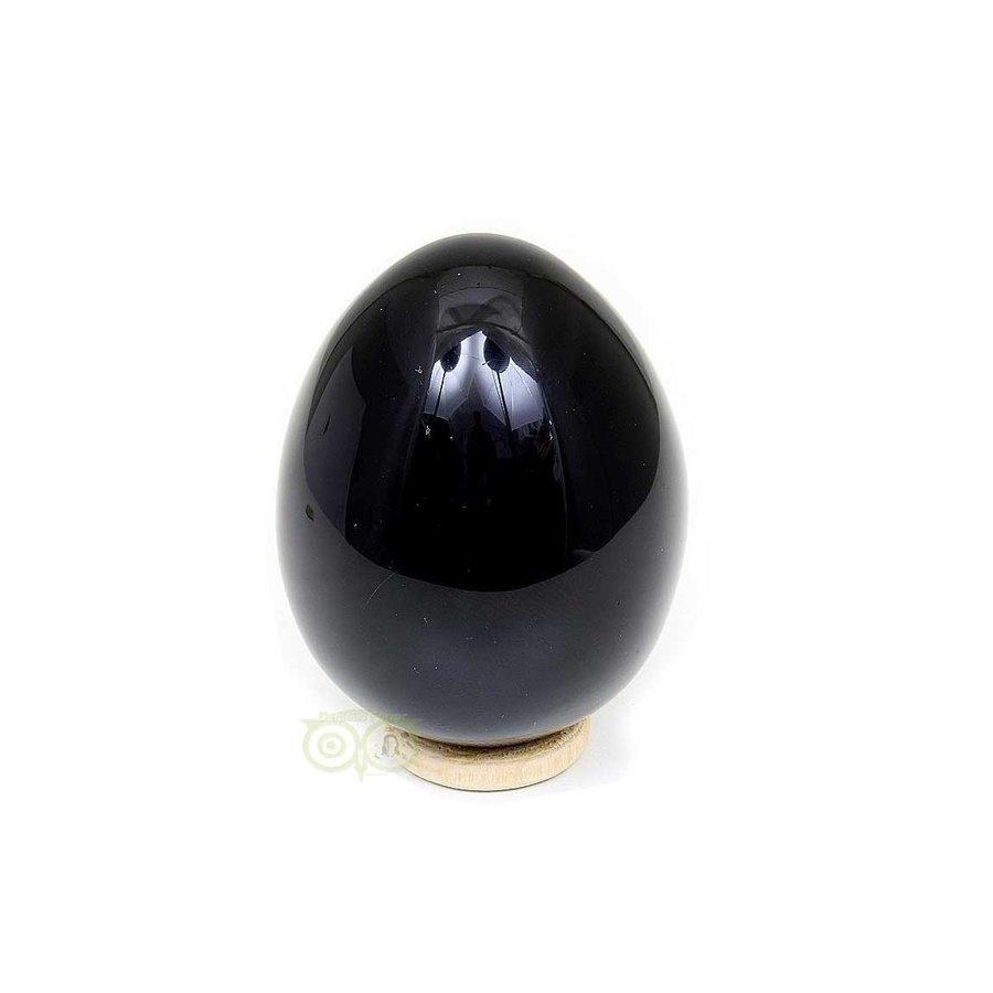 Zwarte Obsidiaan Ei  Nr 1 - 163 gram - Mexico-1