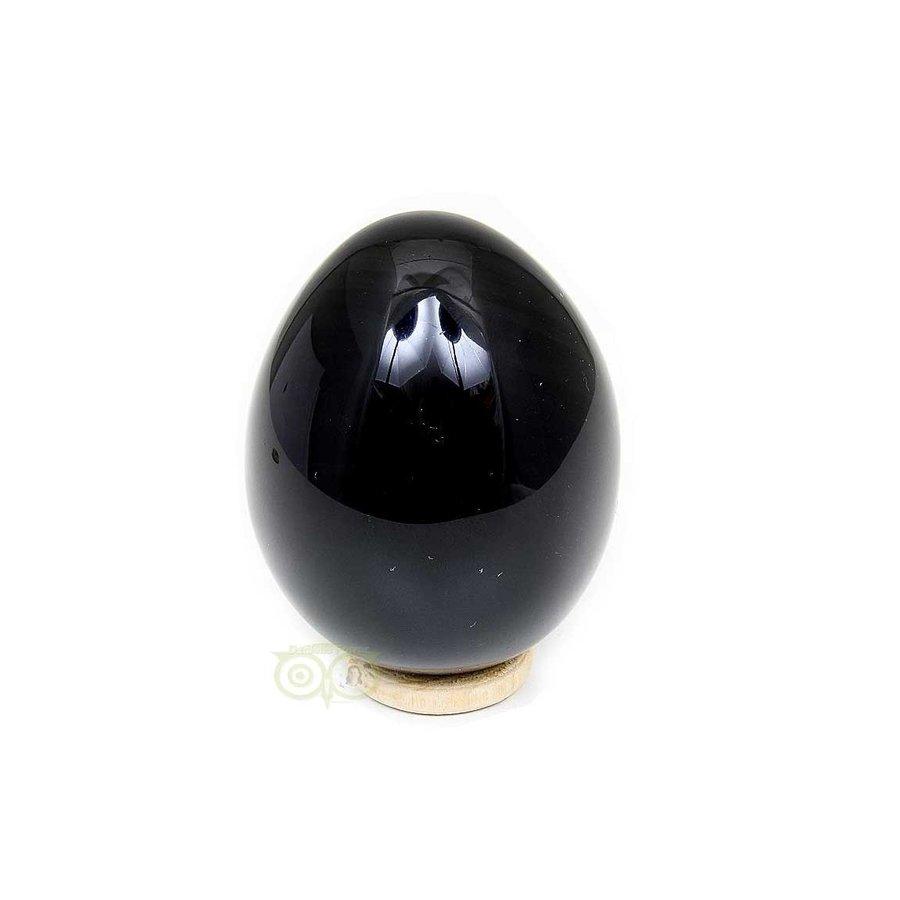Zwarte Obsidiaan Ei  Nr 1 - 163 gram - Mexico-2