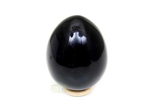 Zwarte Obsidiaan Ei  Nr 2