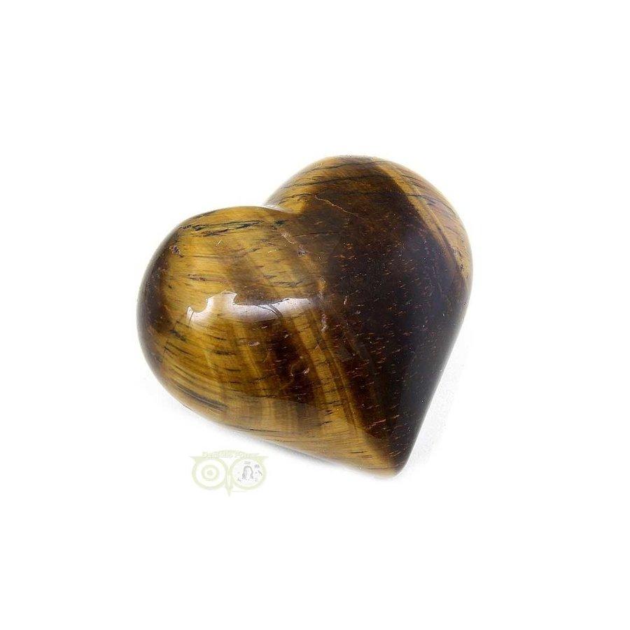 Tijgeroog Hart Nr 1  - 36 gram - 4 cm-1
