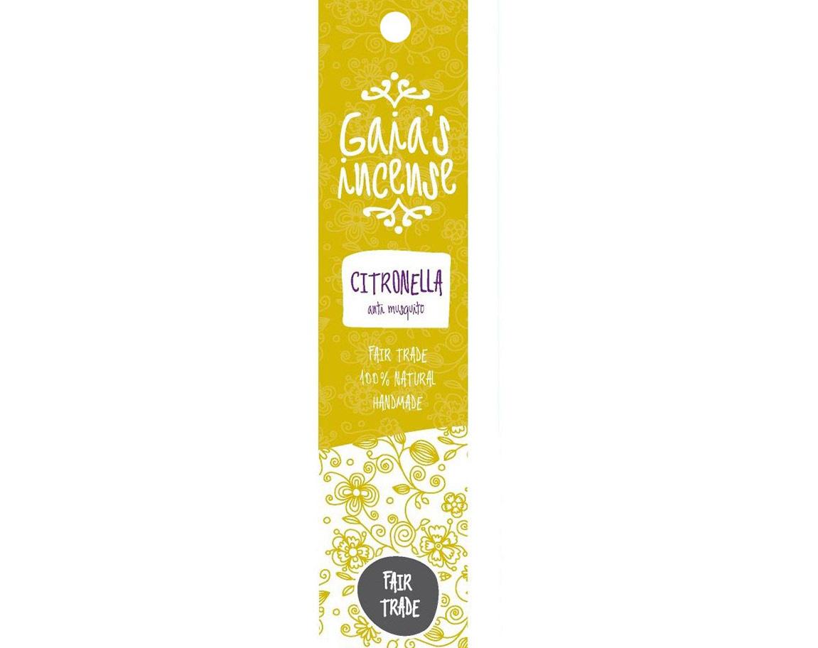 Gaia's Incense Citronella natuurlijke faitrade wierook kopen | Edelstenen Webwinkel - Webshop Danielle Forrer