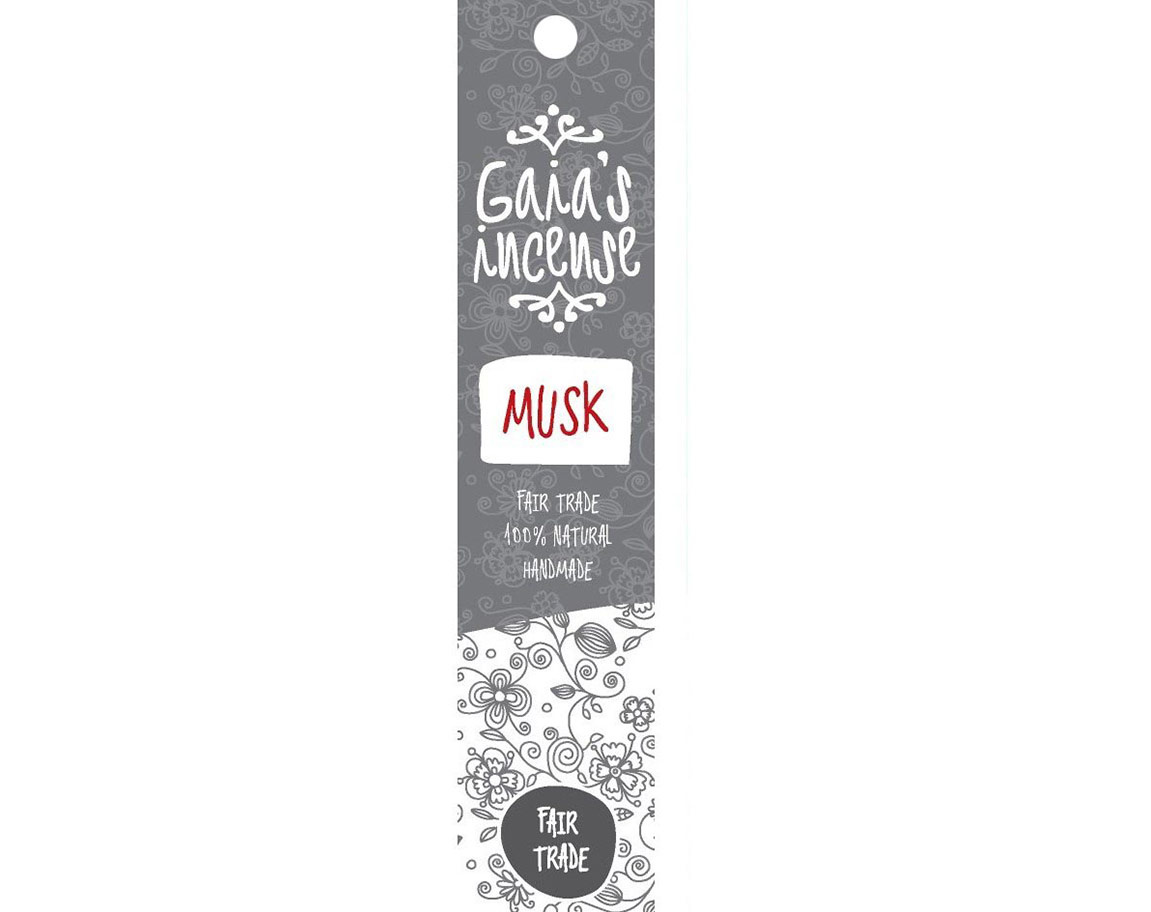 Gaia Incense Natuurlijk wierook Musk | Edelstenen Webwinkel - Webshop Danielle Forrer