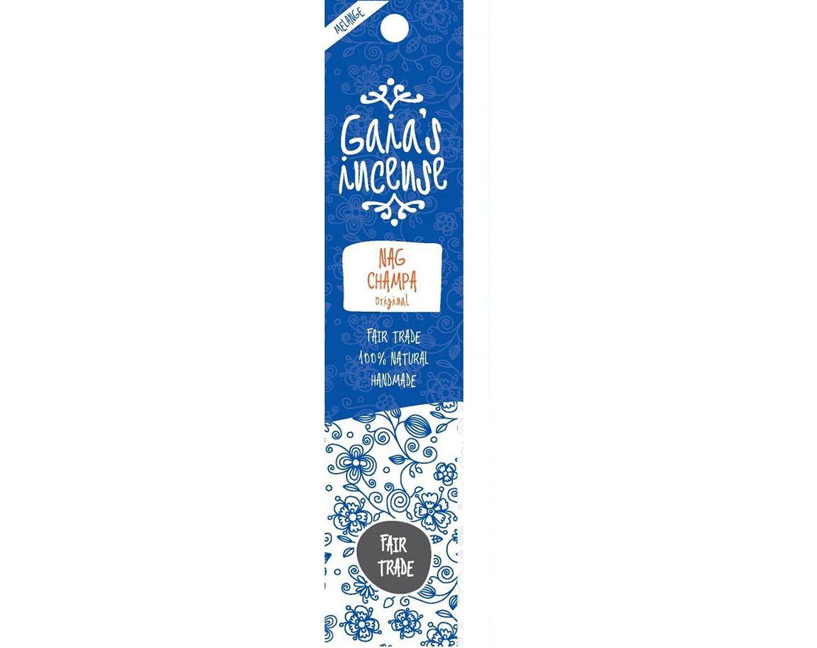 Gaia Incense Natuurlijk wierook Nag Champa original | Edelstenen Webwinkel - Webshop Danielle Forrer