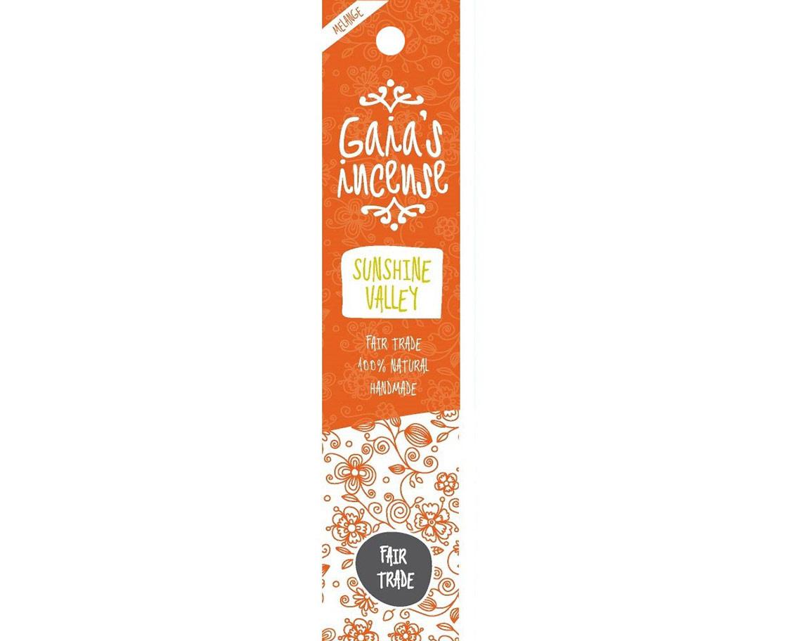 Gaia Incense Natuurlijk wierook Sunshine Valley | Edelstenen Webwinkel - Webshop Danielle Forrer