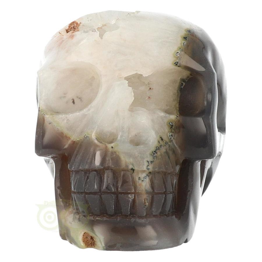 Agaat Geode kristallen schedel - 1, 5 kilo-2