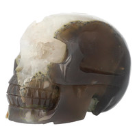 thumb-Agaat Geode kristallen schedel - 1, 5 kilo-3