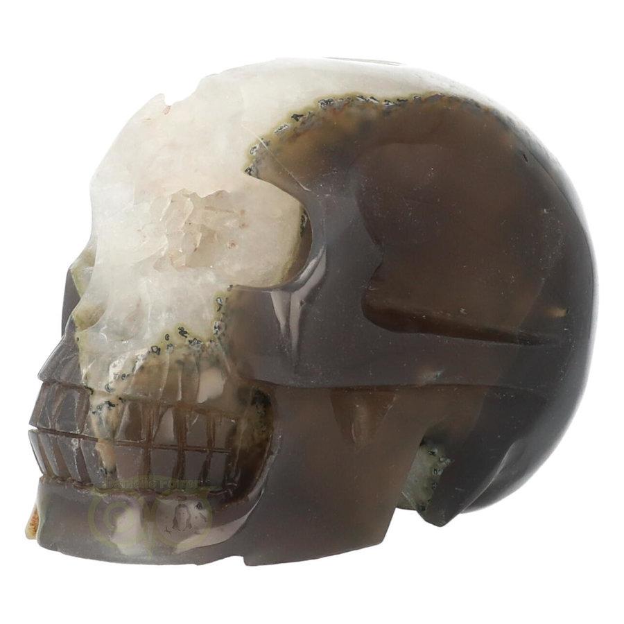 Agaat Geode kristallen schedel - 1, 5 kilo-3