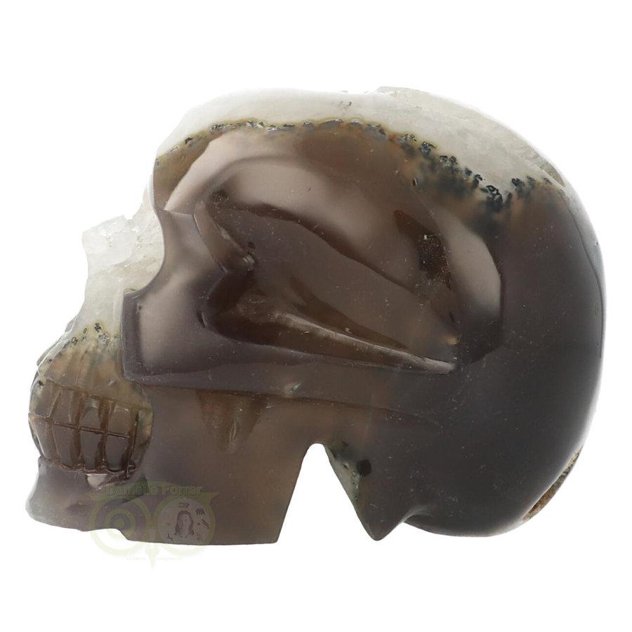 Agaat Geode kristallen schedel - 1, 5 kilo-4