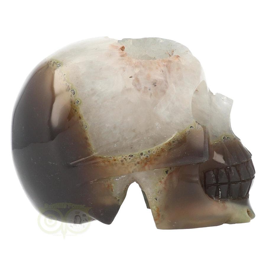 Agaat Geode kristallen schedel - 1, 5 kilo-8