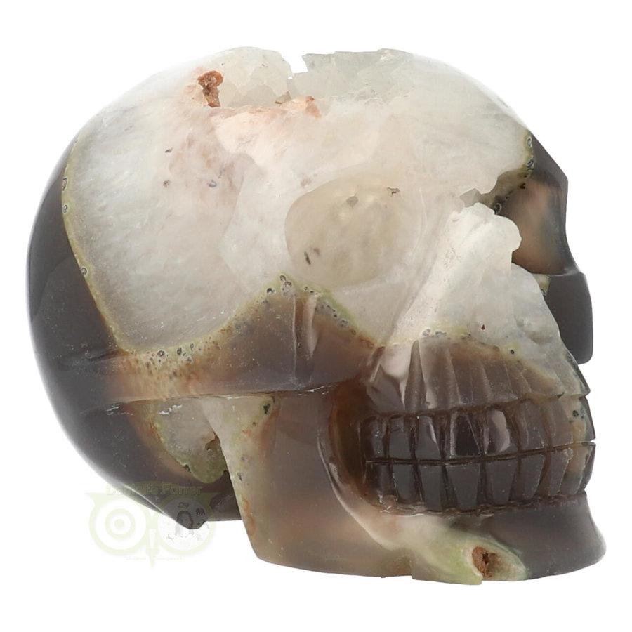 Agaat Geode kristallen schedel - 1, 5 kilo-1