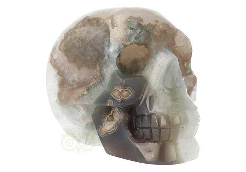 Agaat Geode kristallen schedel - 963 gram