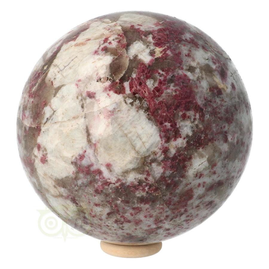 Rubeliet ( rode toermalijn ) Bol 89 mm 1 kg-1