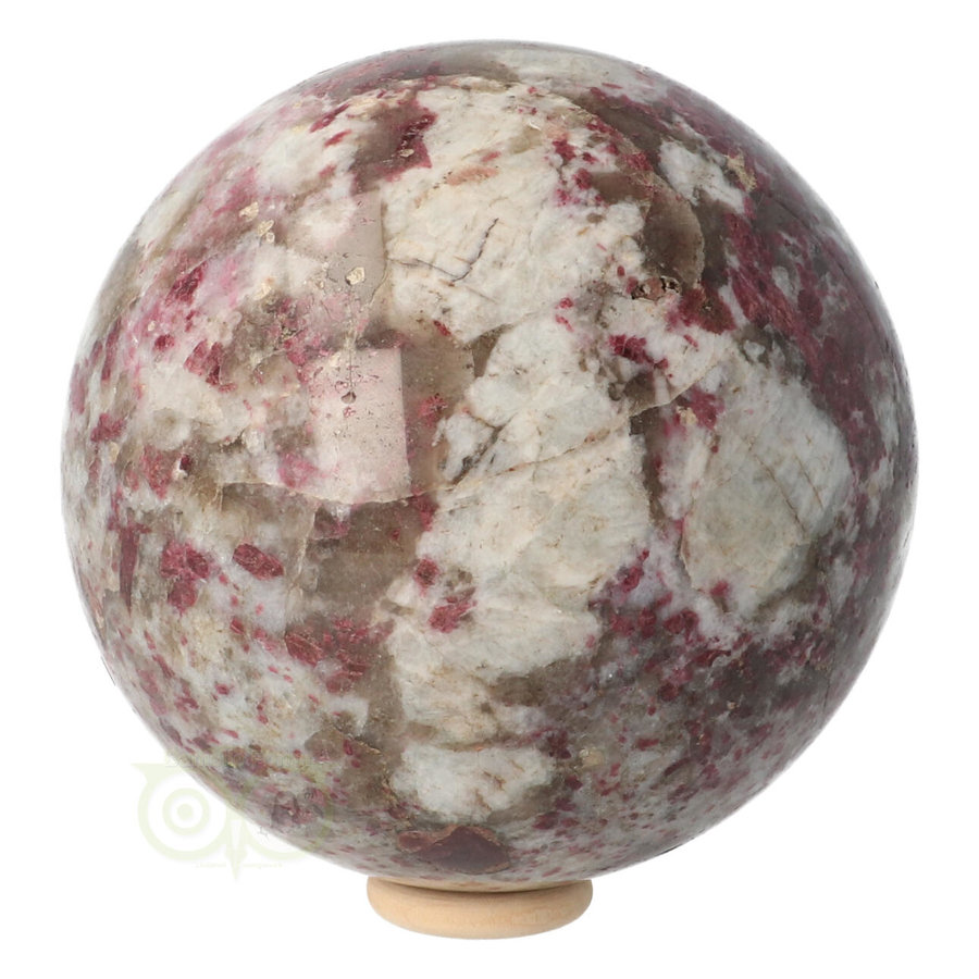 Rubeliet ( rode toermalijn ) Bol 89 mm 1 kg-6