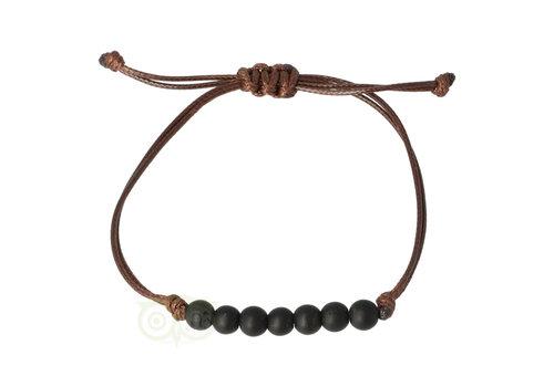 Armband Zwarte Toermalijn - verstelbaar