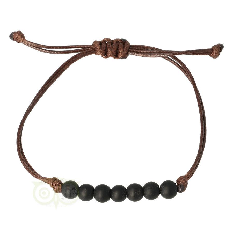 Armband Zwarte Toermalijn - verstelbaar-1