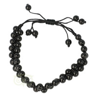 thumb-Armband - Zwarte Agaat - Verstelbaar-2