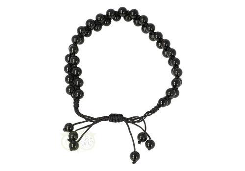 Armband - Zwarte Agaat - Verstelbaar
