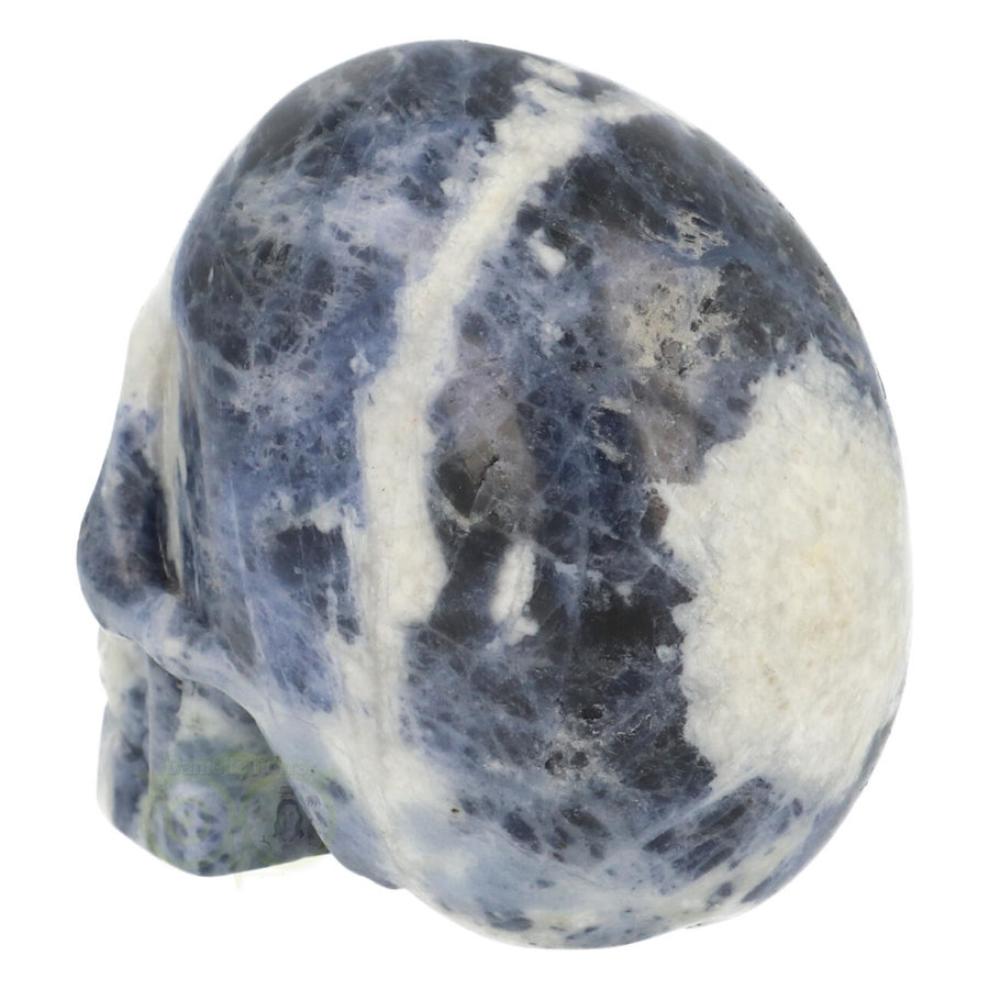 Sodaliet kristallen schedel 203 gram-5