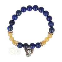 thumb-Armband lapis lazuli / rutielkwarts met ganesha-1